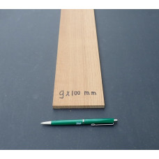 Teak lijfhout 9 x 100 mm