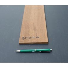 Teak lijfhout 9 x 120 mm