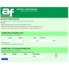 Zaagschema maken met de AF-platenzaag-app