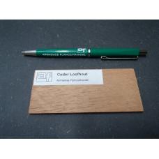 Ceder loofhout houtmonster