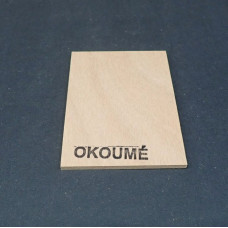 Plaatmateriaalmonster okoume garantiemultiplex