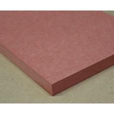 Plaatmateriaalmonster rood MDF (fire retardant)